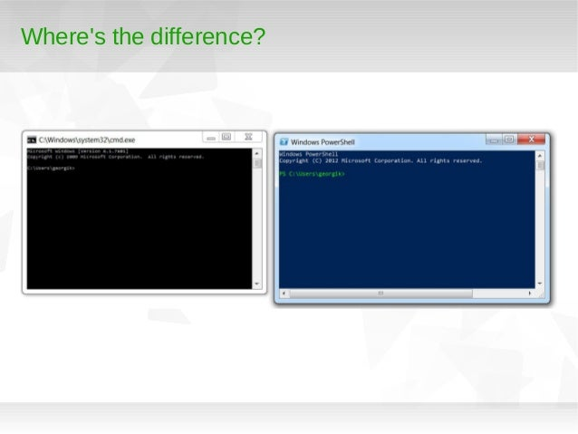 PowerShell from *nix user perspective Slide 3