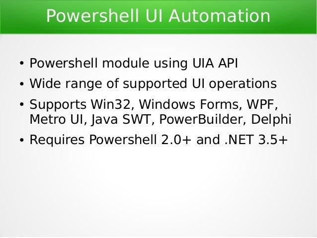 PowerShell UIAtomation