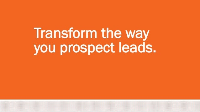 #inbound2013 Transform the way you prospect leads.