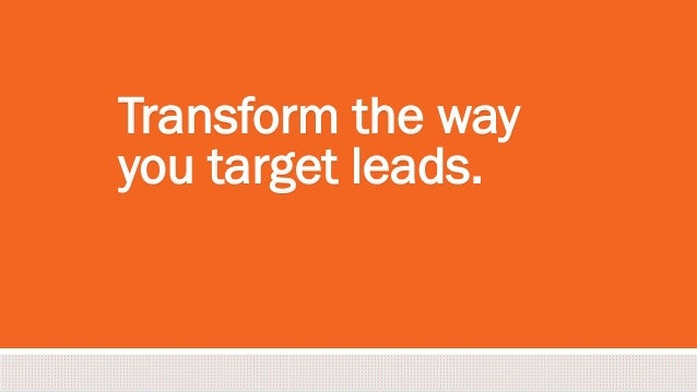 #inbound2013 Transform the way you target leads.