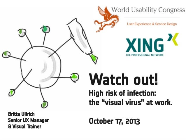 """Watch out! High risk of infection: the """"visual virus"""" at work. Britta Ullrich Senior UX Manager & Visual Trainer  October ..."""
