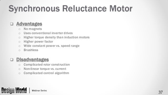 Design of Synchronous Reluctance Machines for Automotive Applications