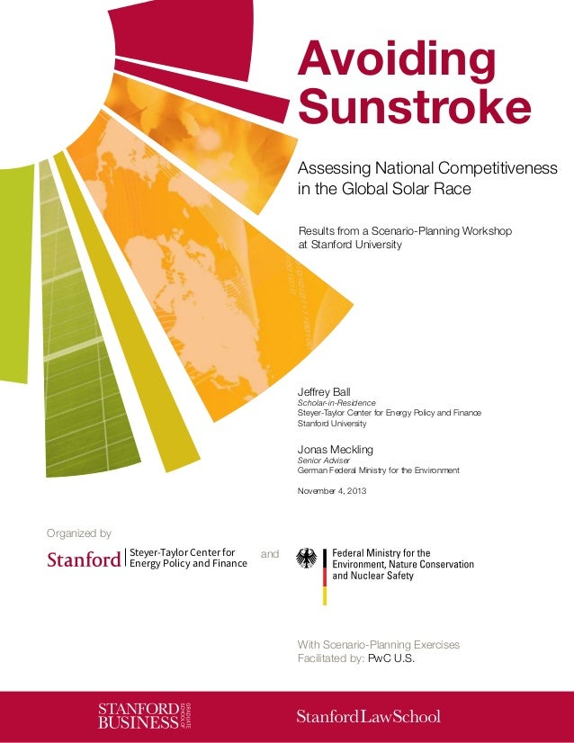 Avoiding Sunstroke Assessing National Competitiveness in the Global Solar Race Results from a Scenario-Planning Workshop a...