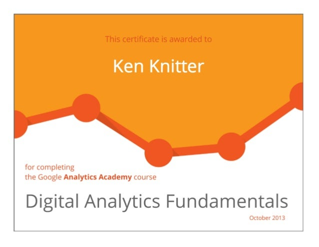 Google digital analytics fundamentals