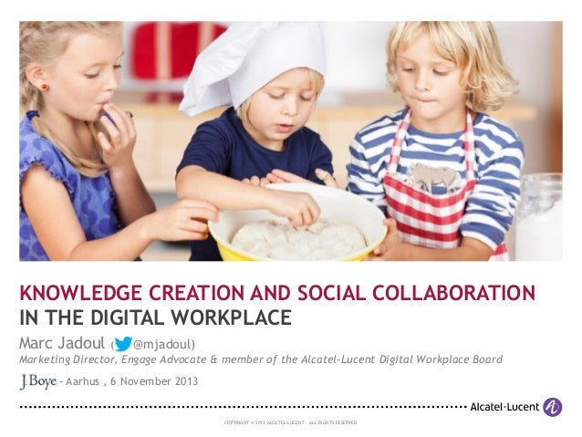 KNOWLEDGE CREATION AND SOCIAL COLLABORATION IN THE DIGITAL WORKPLACE Marc Jadoul (  @mjadoul)  Marketing Director, Engage ...