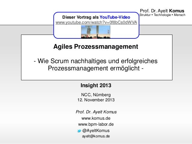 www.komus.de Struktur  Technologie  Mensch Prof. Dr. Ayelt Komus Agiles Prozessmanagement - Wie Scrum nachhaltiges und e...