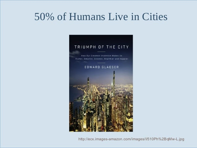 50% of Humans Live in Cities  Slide 130  http://ecx.images-amazon.com/images/I/510Ph%2BqMw-L.jpg