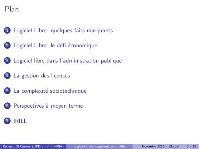 Logiciel Libre: defis et opportunites Slide 3
