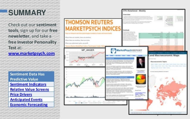 SUMMARY Check out our sentiment tools, sign up for our free newsletter, and take a free Investor Personality Test at: www....