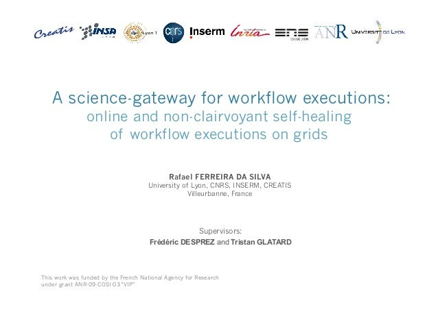 A science-gateway for workflow executions: online and non-clairvoyant self-healing of workflow executions on grids Rafael ...