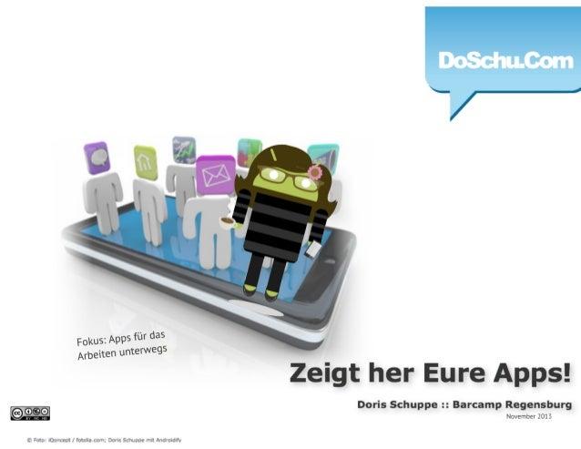 Zeigt her Eure Apps - Barcamp Regensburg