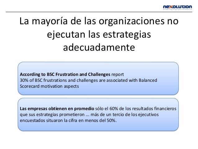 According to BSC Frustration and Challenges report 30% of BSC frustrations and challenges are associated with Balanced Sco...