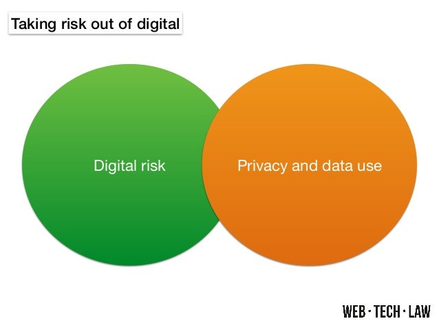Taking risk out of digital Digital risk Privacy and data use