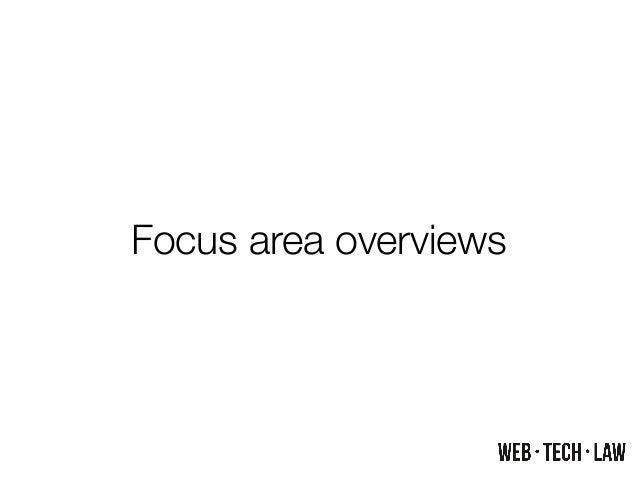 Focus area overviews