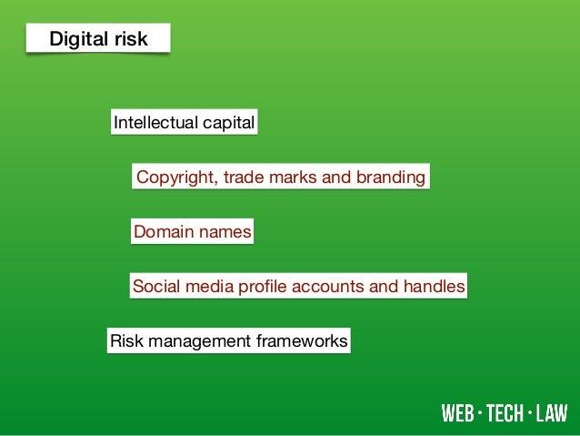 Digital risk Intellectual capital Domain names Social media profile accounts and handles Risk management frameworks Copyrig...