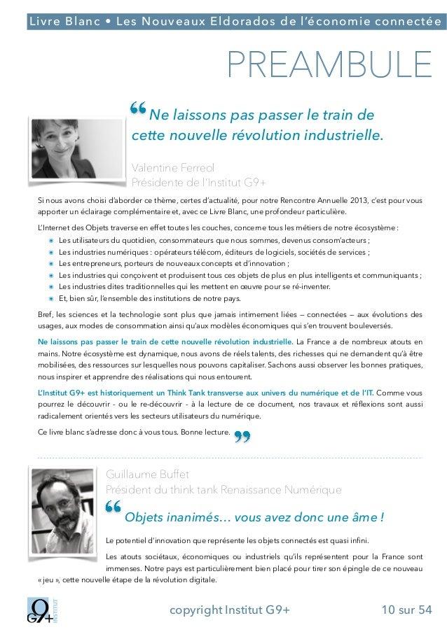 ;  Livre Blanc • Les Nouveaux Eldorados de l'économie connectée  PREAMBULE Ne laissons pas passer le train de cette nouvel...