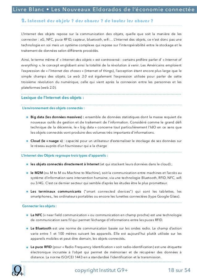 ;  Livre Blanc • Les Nouveaux Eldorados de l'économie connectée  2. Internet des objets ? des choses ? de toutes les chose...
