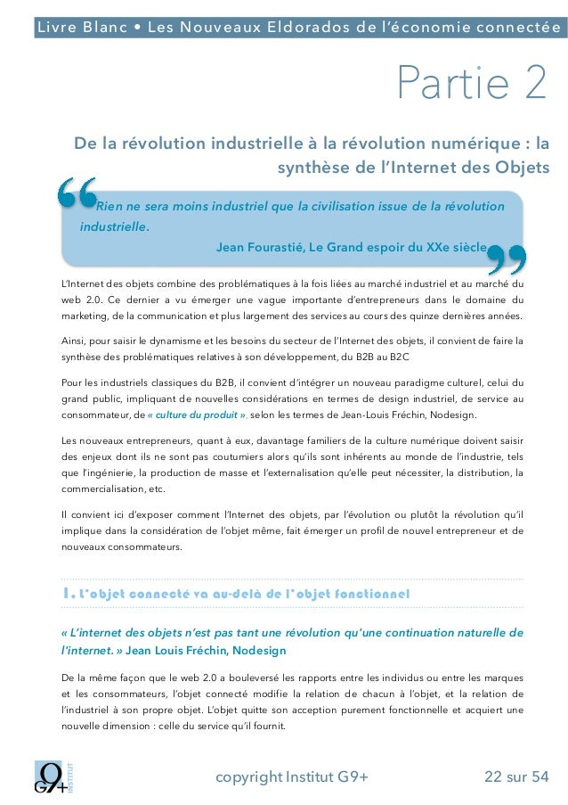 ;  Livre Blanc • Les Nouveaux Eldorados de l'économie connectée  Partie 2 De la révolution industrielle à la révolution n...
