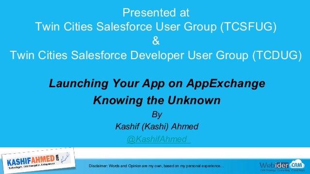 Presented at Twin Cities Salesforce User Group (TCSFUG) & Twin Cities Salesforce Developer User Group (TCDUG) Launching Yo...