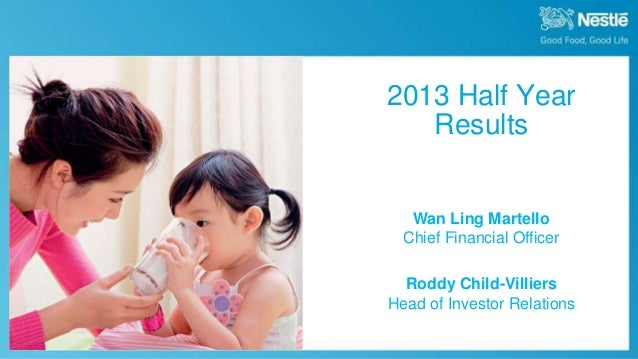 August 8th, 2013 Half Year Results 2013 Half Year Results Wan Ling Martello Chief Financial Officer Roddy Child-Villiers H...