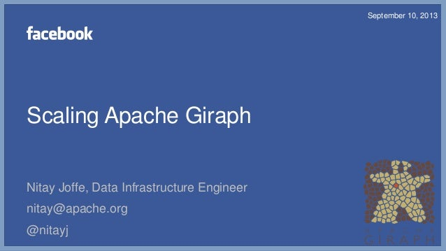 Scaling Apache Giraph Nitay Joffe, Data Infrastructure Engineer nitay@apache.org @nitayj September 10, 2013