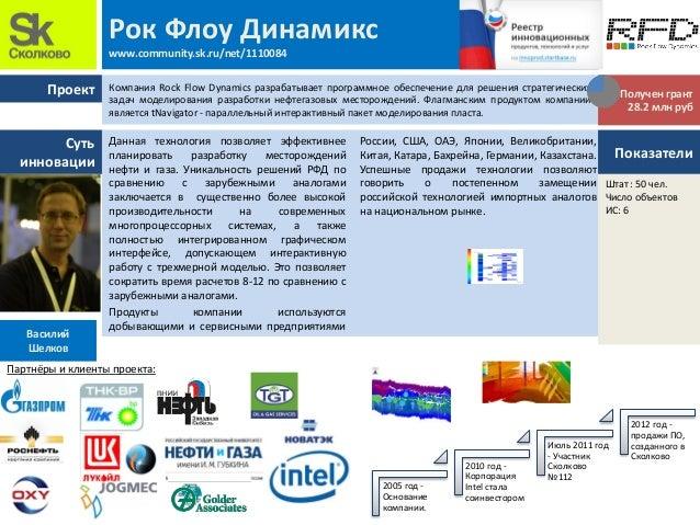 Проект Суть инновации Рок Флоу Динамикс www.community.sk.ru/net/1110084 Данная технология позволяет эффективнее планироват...