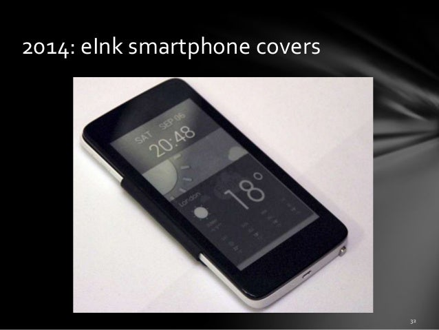 2014: eInk smartphone covers