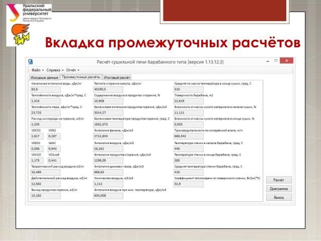 Сабиров Е Р Курсовая работа по ТРПО Вкладка промежуточных расчётов