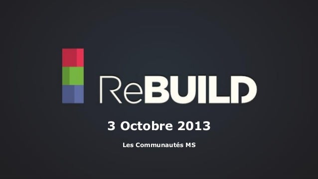 3 Octobre 2013 Les Communautés MS