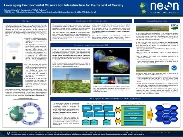 Leveraging Environmental Observation Infrastructure for the Benefit of Society 1  1,2  3  Authors: Brian Wee , Hank Loesch...