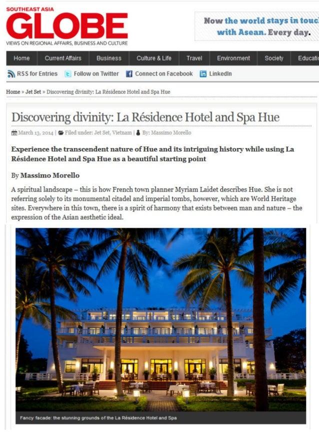 Southeast Asia Globe: Discovering divinity: La Résidence Hotel and Spa Hue