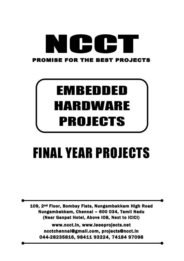 NCCT Smarter way to do your Projects 044-2823 5816, 98411 93224 74184 97098 ncctchennai@gmail.com NCCT, 109, 2 nd Floor, B...