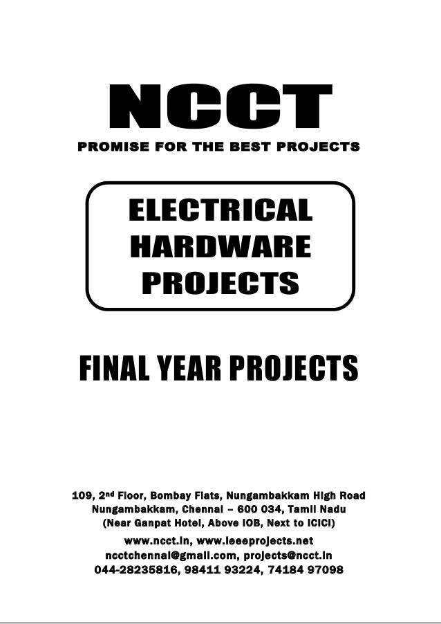 2013 14 diploma electrical project titles