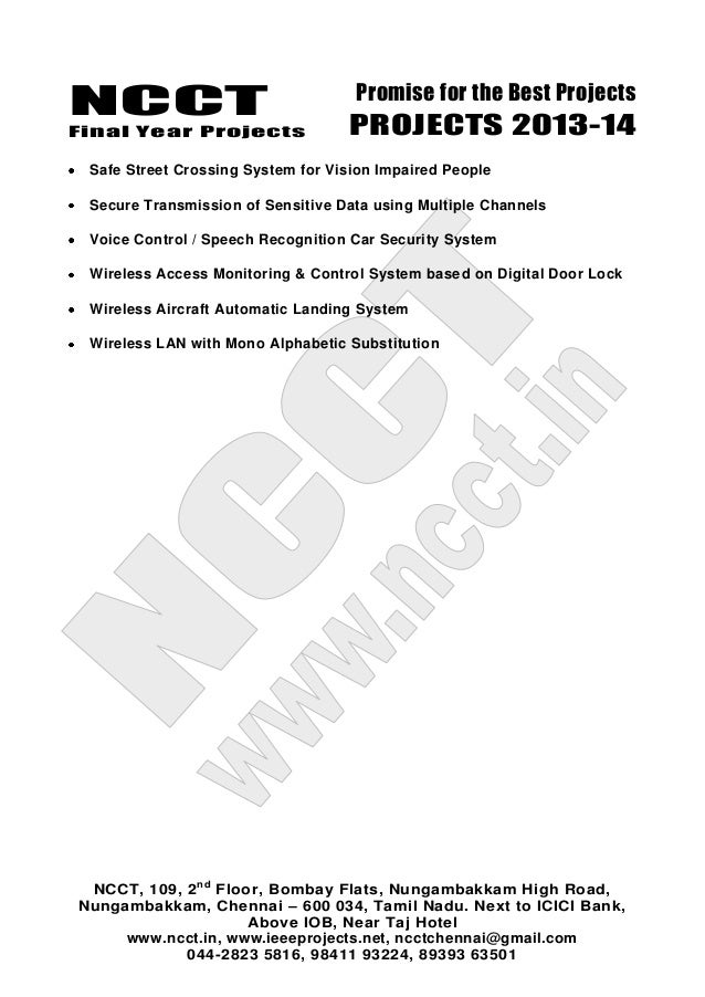 2013 14 Embedded Systems Project List Non Ieee Based
