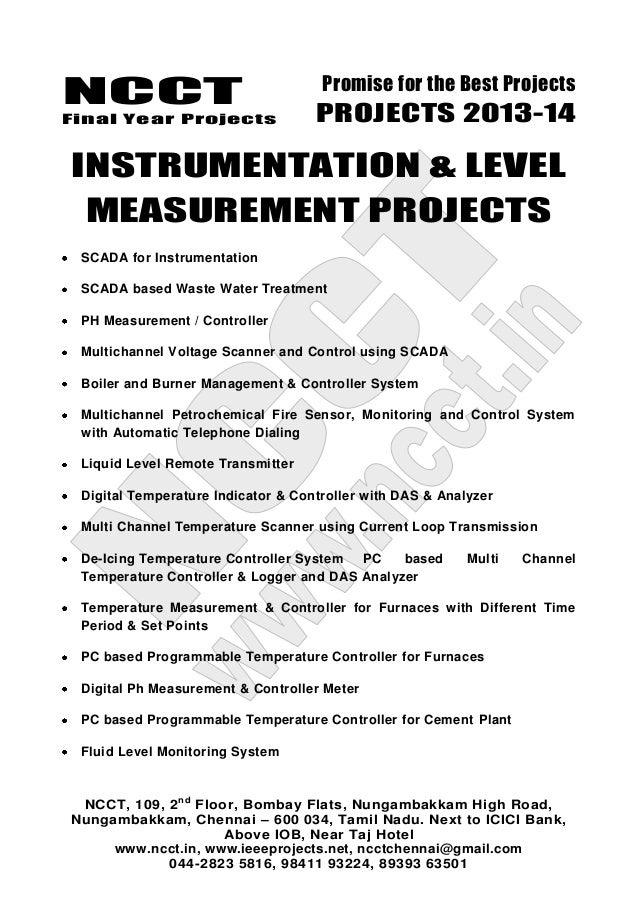 2013 14 embedded systems project list