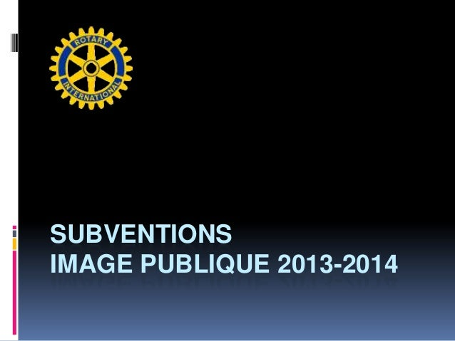 SUBVENTIONSIMAGE PUBLIQUE 2013-2014