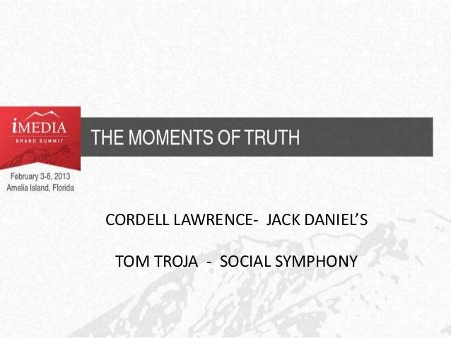 CORDELL LAWRENCE- JACK DANIEL'S TOM TROJA - SOCIAL SYMPHONY