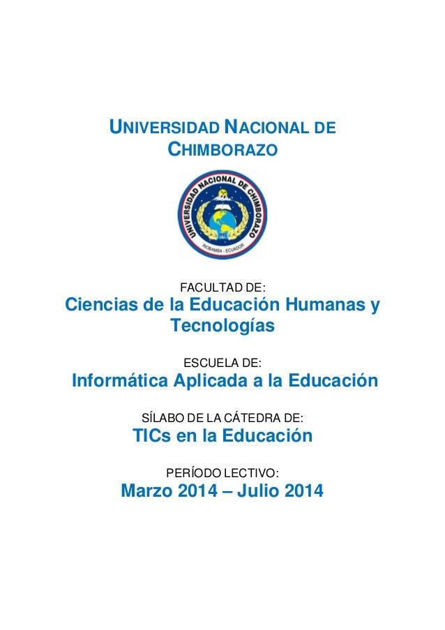 UNIVERSIDAD NACIONAL DE CHIMBORAZO FACULTAD DE: Ciencias de la Educación Humanas y Tecnologías ESCUELA DE: Informática Apl...