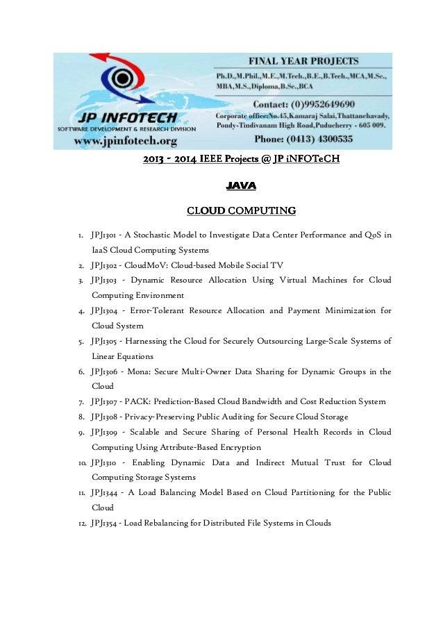 2013201320132013 ---- 2014201420142014 IEEE ProjectsIEEE ProjectsIEEE ProjectsIEEE Projects @@@@ JP iNFOTeCHJP iNFOTeCHJP ...