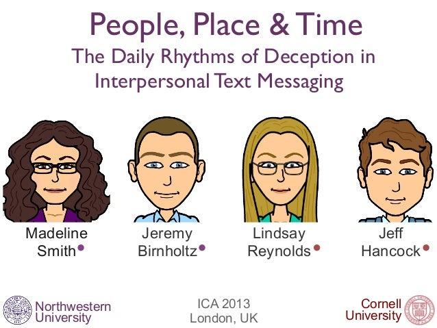 NorthwesternUniversityPeople, Place & TimeThe Daily Rhythms of Deception inInterpersonal Text MessagingCornellUniversityIC...