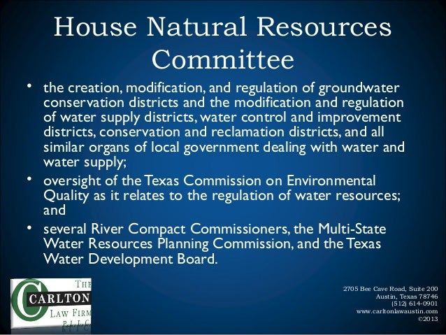 House Natural Resources Committee Jurisdiction