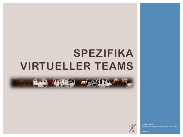 SPEZIFIKAVIRTUELLER TEAMS                    ursula c. linden                    effeff® | beratung für virtuelle arbeitsr...