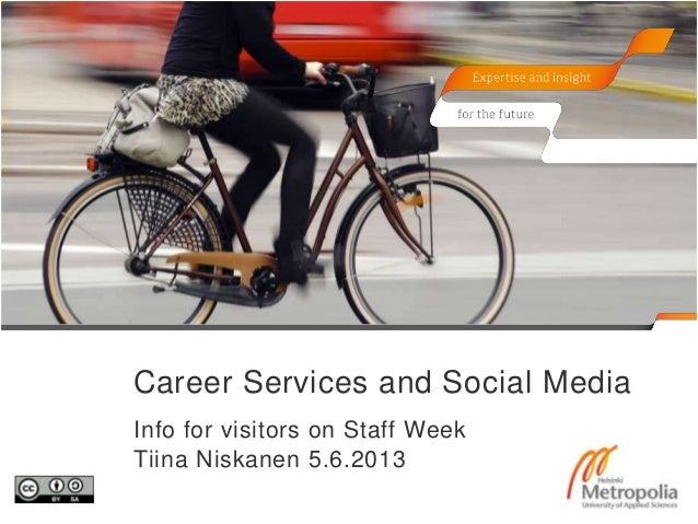 Career Services and Social MediaInfo for visitors on Staff WeekTiina Niskanen 5.6.2013
