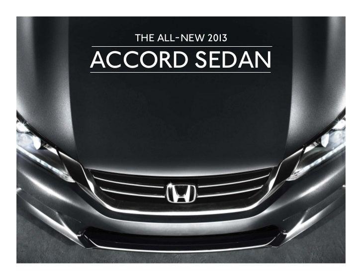 2013 Honda Accord Sedan Factsheet By Neil Huffman Honda In