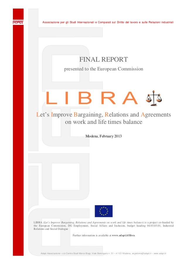 Associazione per gli Studi Internazionali e Comparati sul Diritto del lavoro e sulle Relazioni industrialiAdapt Associazio...
