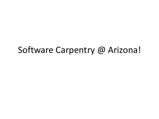Software Carpentry @ Arizona!