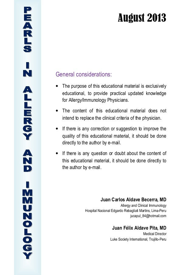August 2013 General considerations: • The purpose of this educational material is exclusively educational, to provide prac...