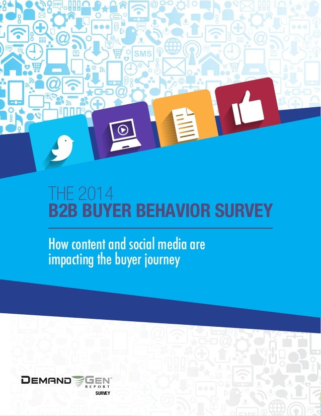 1 The 2014 B2B Buyer Landscape: How content and social media are impacting the buyer journey R E S E A R C H How content a...