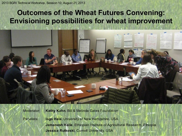 Outcomes of the Wheat Futures Convening: Envisioning possibilities for wheat improvement 2013 BGRI Technical Workshop, Ses...