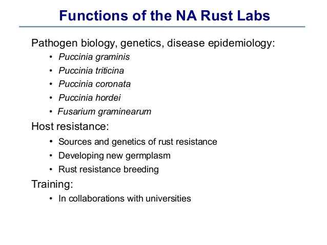 Race-typing in North American Rust Laboratories & Their